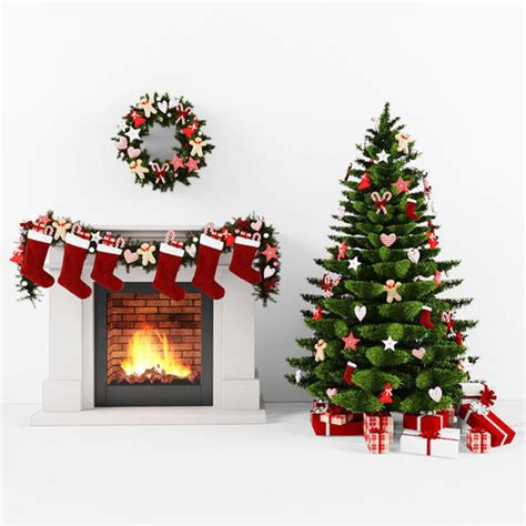 3d christmas set cgtrader