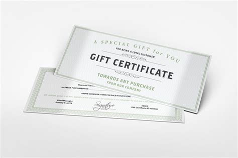 certificate design mockup gift certificate mockup by idesignstudio net