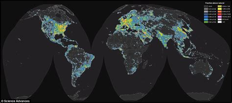 Map Lights by Interactive Map Reveals Light Pollution Around The Globe