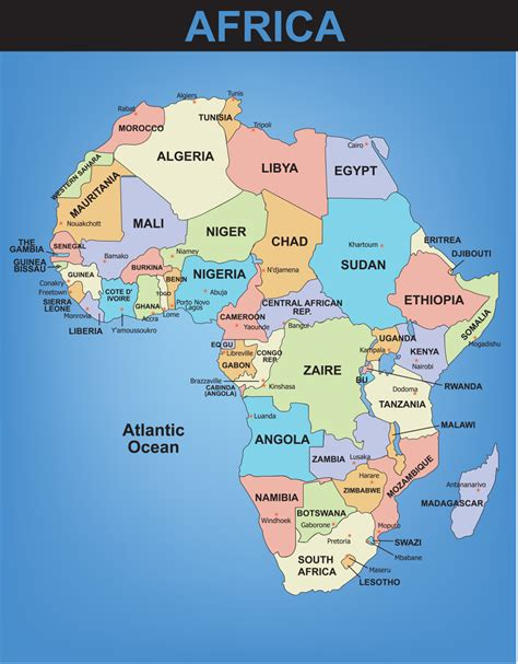 africa map by country blank map of the world with countries and capitals