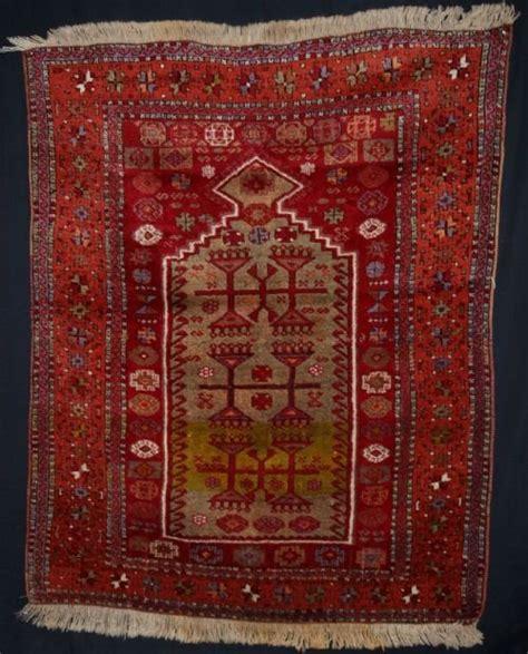 Turkish Prayer Rugs by Antique Eastern Anatolian Turkish Kurdish Yuruk Prayer Rug