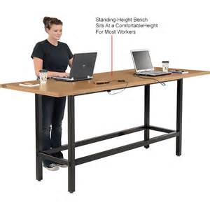 Bar Height Computer Desk Computer Furniture Computer Desks Workstations Bar Height Computer Workstation Table With