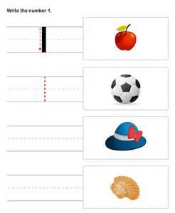 Learn to write numbers kindergarten worksheet