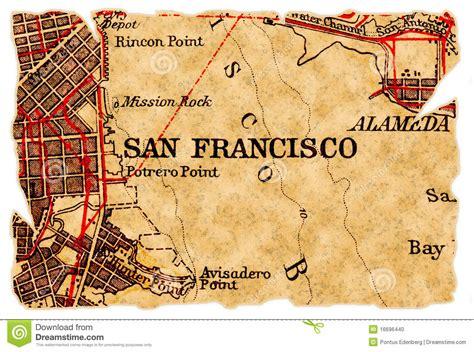 san francisco map vintage san francisco map stock photo image 16696440