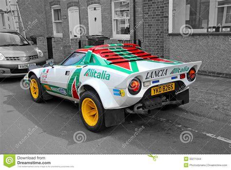 Lancia Sports Car Lancia Sponsored Racing Car Editorial Stock Image Image