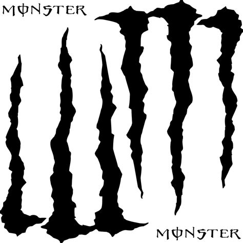 Monster Aufkleber Orange by Wandtattoos Folies Monster Energy Aufkleber Set