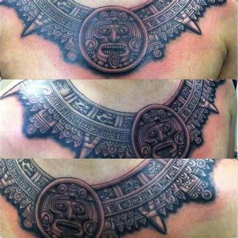 aztec chest tattoos aztec calendar tattoos newcalendar