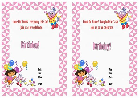 dora printable birthday decorations dora birthday invitations birthday printable