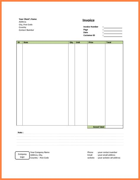 basic invoice template free exle simple invoice rabitah net
