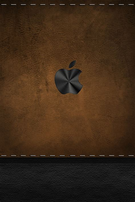 wallpaper apple leather apple old leather ipod touch wallpaper background and theme