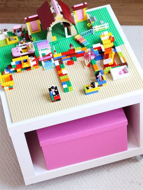 ikea lego table hack easy diy lego table from ikea hack