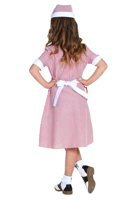 50 girl halloween costumes 50s car hop costume for girls