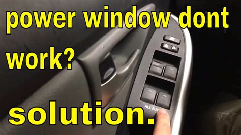 power window dont work  main switch toyota lexus scion
