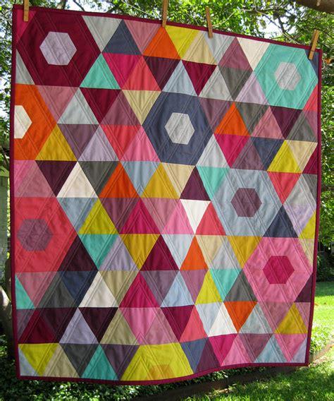 Patchwork Prism Quilt - mini patchwork prism quilt front by bgmom1 via flickr
