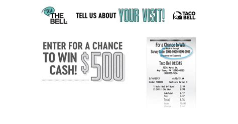 Taco Bell Sweepstakes - taco bell tell the bell customer survey sweepstakes 2018 winzily