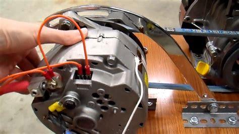 diy  generator charger  belt drive update youtube
