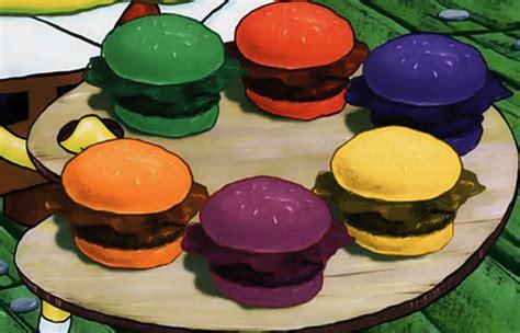 colored krabby patties pretty patty encyclopedia spongebobia fandom powered