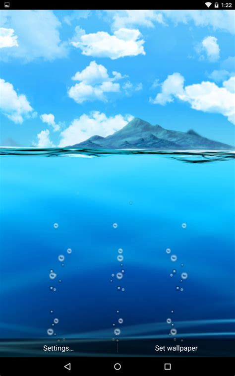 wallpaper asus day scene this live wallpaper uses ocean water levels to display
