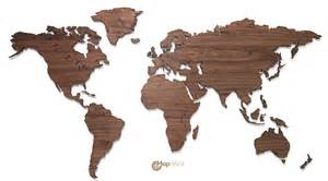 World Map On Wood by Mapawall Com Wooden World Map Wall Decoration