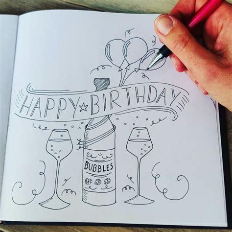 happy birthday doodle easy handletteren workshop 5 en 20 april www studiosuz nl