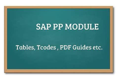 sap tutorial on pp module sap pp tutorials production planning functional module