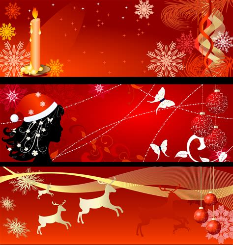 images of christmas banners christmas background banner vector free vector 4vector
