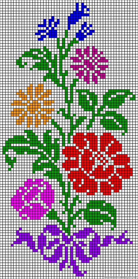 Perlenweben Vorlagen Muster flowers perler bead pattern mustervorlage