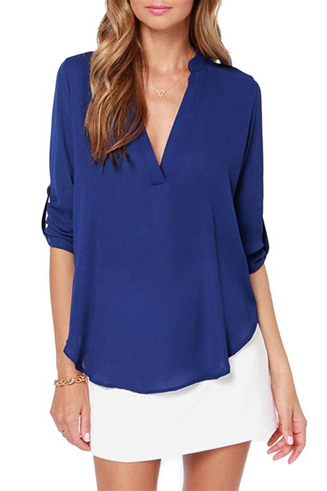 Only Blue Blouse Vinn New Color lush cobalt blue blouse from seattle by simply chic