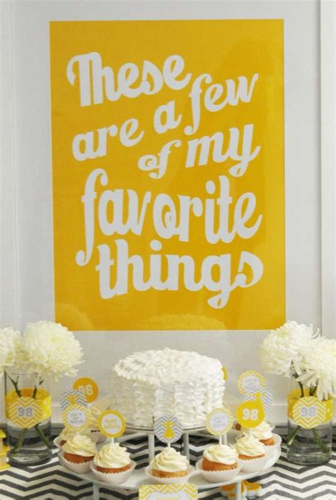 theme few few of my favorite things birthday party ideas photo 1