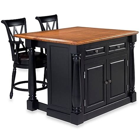 home styles monarch 3 kitchen island with oak top