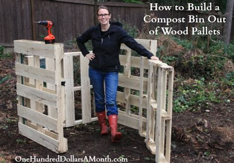 how to build a compost bin out of wood pallets jpg