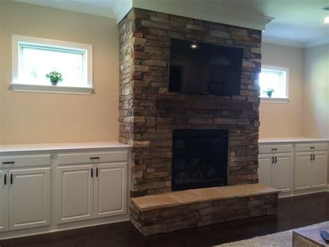 Built In Cupboards Next To Fireplace by Custom Cabinet Built Ins Beside Fireplace