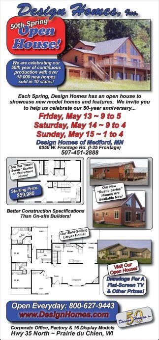 design homes medford mn 50th open house design homes inc medford mn
