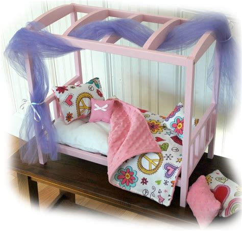 American Doll Canopy Bed by Doll Bed Peace And Canopy Doll Bed Fits American