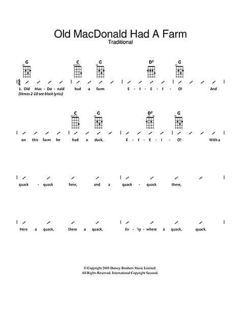 strumming pattern white trash beautiful old macdonald had a farm partition par traditional