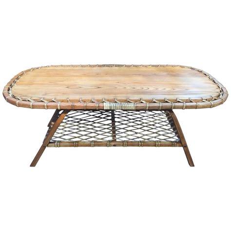 Adirondack Coffee Table Adirondack Oak And Rawhide Coffee Table At 1stdibs