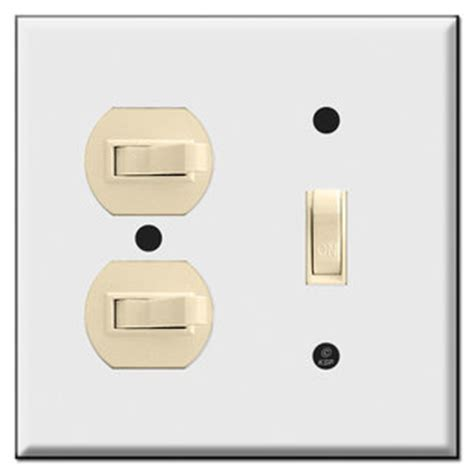 Light Switch Cover Vertical Amp Horizontal 3 Toggle Combo Wall Switch Plates