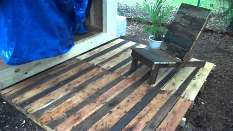Free Kitchen Floor Plans by Pallet Wood Project A Deck And Chair Made From Free