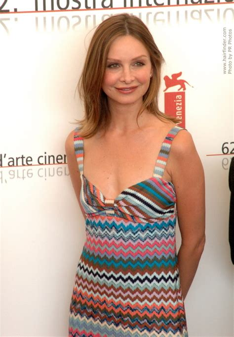 calista flockhart shoulder long natural looking hair