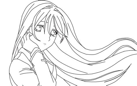 Rosario Vire Coloring Pages rosario lineart by werewolflycia on deviantart