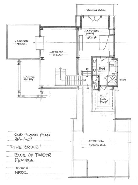 the bitteroot timber frame home floor plan blue ox the brule timber frame home floor plan blue ox timber