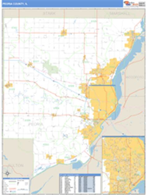 zip code map peoria il peoria county il zip code wall map basic style by marketmaps
