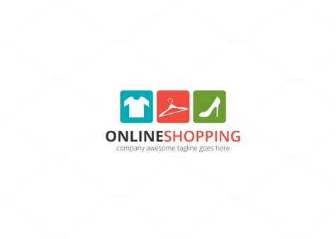 online shopping logo logo templates on creative market