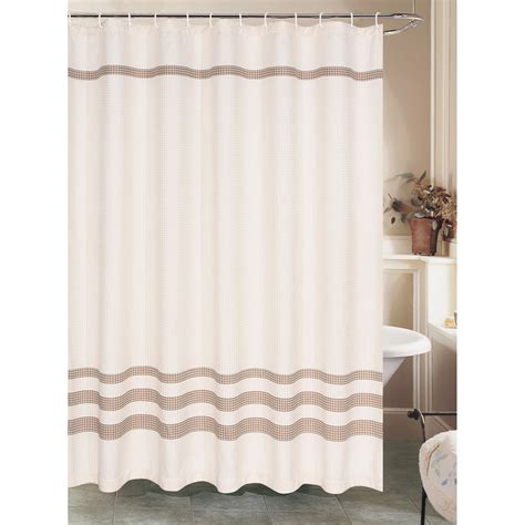 brown waffle shower curtain cream waffle shower curtain with brown stripe at home