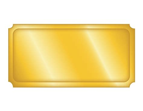 top blank golden ticket template design