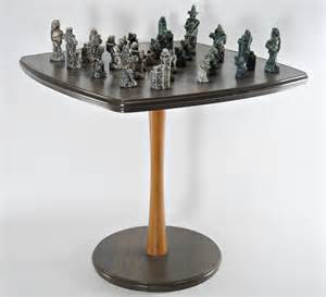 Modern Chess Table by Mid Century Chess Table Set Game Danish Modern By