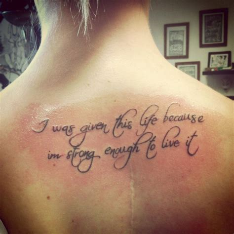 tattoo quotes for upper back 41 upper back quote tattoos