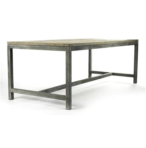 Abner Industrial Modern Rustic Bleached Oak Grey Dining Modern Oak Dining Table