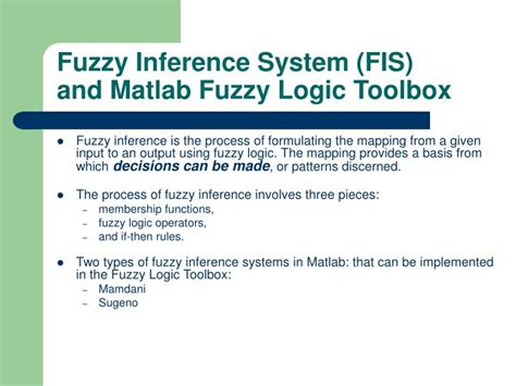 fuzzy image processing and applications with matlab books ppt fuzzy inference system fis and matlab fuzzy logic