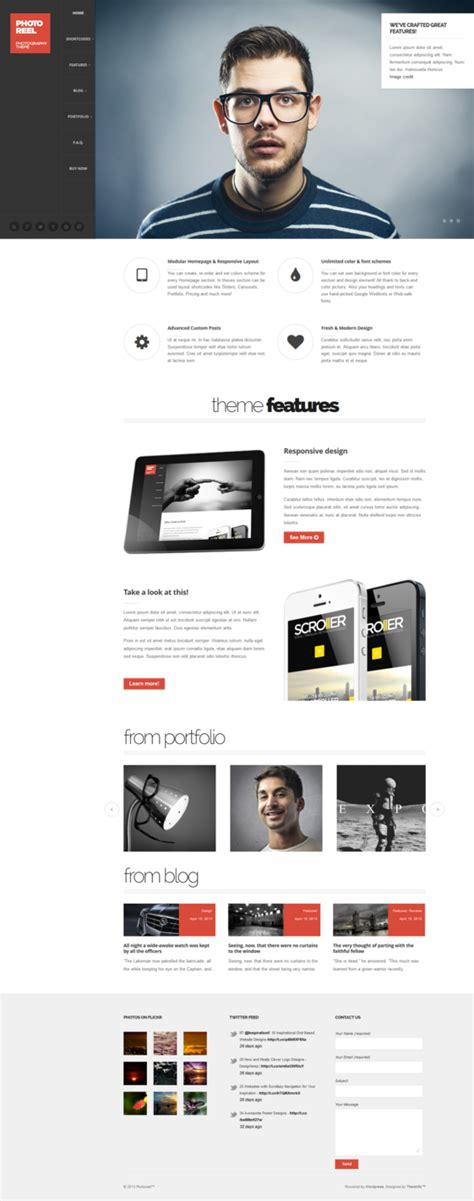 elegant themes mobile responsive photoreel elegant responsive photography theme by